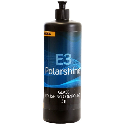 Mirka Polarshine E3 Glass Polishing Compound, 1 Liter, PE3-1L