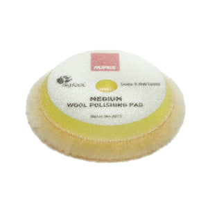 "RUPES 3.5"" Yellow Medium Wool Pad for 3"" LHR75, LHR75E, LTA75 Tools, 9.BW100M"