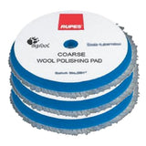 "RUPES 5.75"" (145mm) Blue Coarse Wool Pad, 9.BW150H, 3 Pads"