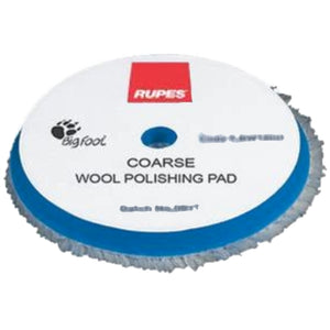 "RUPES 6.75"" (170mm) Blue Coarse Wool Pad, 9.BW180H"