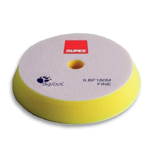 "RUPES 6"" to 7"" (150mm to 180mm) Angle Yellow Foam Fine Buff Pad, 9.BF180M"