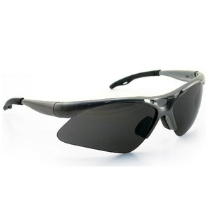 SAS Safety Diamondbacks Safety Goggles, Silver Frame with Shade Lens, 540-0101
