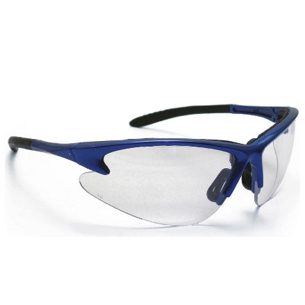 SAS Safety Diamondbacks Safety Goggles, Blue Frame with Clear Lens, 540-0300