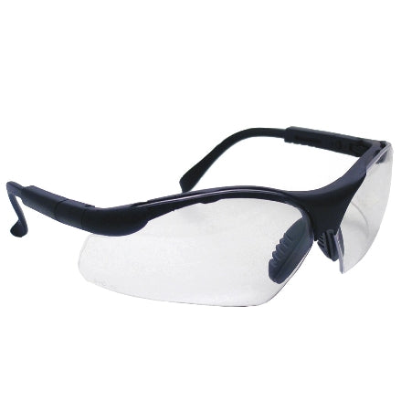 SAS Safety Sidewinders Safety Goggles, Black Frame with Clear Lens, 541-0000