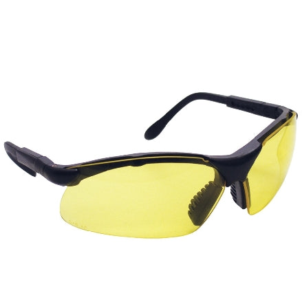 SAS Safety Sidewinders Safety Goggles, Black Frame with Yellow Lens, 541-0002