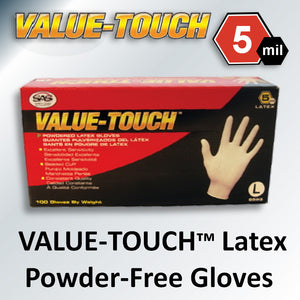 VALUE-TOUCH™ Latex Powder-Free Gloves