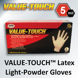 VALUE-TOUCH™ Latex Lightly Powdered Gloves