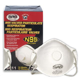 SAS Safety N95 Valved Particulate Respirator, 8611