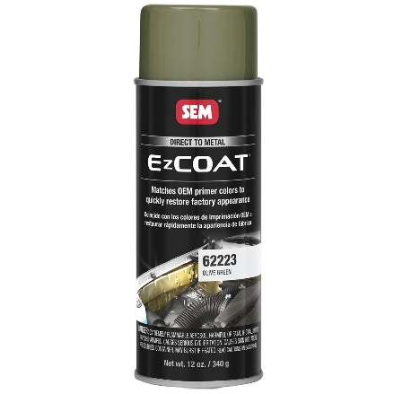 SEM 62223 Ez Coat Olive Green, 16 oz Aerosol