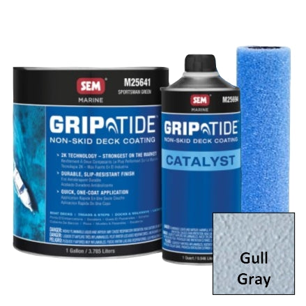SEM GripTide Non-Skid Deck Coating Kit, Gull Gray, M25620