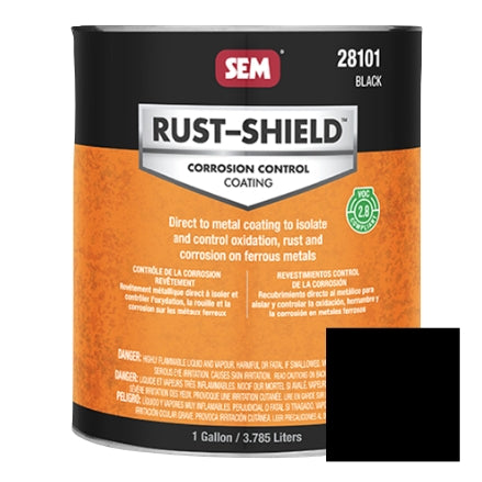SEM 2.8 VOC Rust Shield, Black, Gallon, 28101