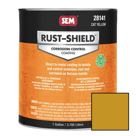 SEM 2.8 VOC Rust Shield, CAT Yellow, Gallon, 28141
