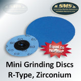 Mini Grinding Discs, Zirconium Grain, R-Type Attachment
