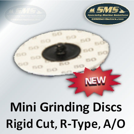 Rigid-Cut Aluminum Oxide Mini Grinding Discs, R-Type