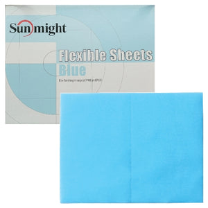 Sunmight Flexible Grip Sheets, Blue (400-600 Grit Finish), 60118