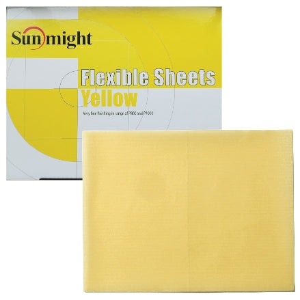 Sunmight Flexible Grip Sheets, Yellow (800-1000 Grit Finish), 60119