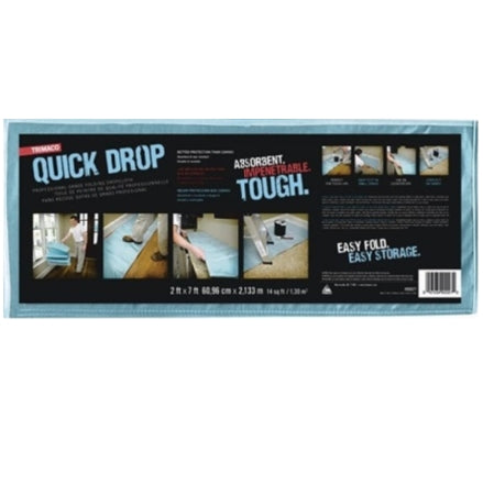 Trimaco Quick Drop Folding Drop Cloth, 2' x 7', 90027