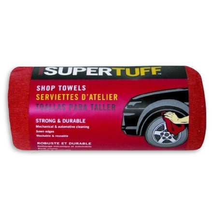 Supertuff Red Shop Towels, 32006
