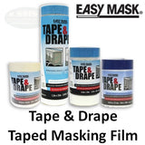 Easy Mask Tape & Drape 1.9' x 100' Pre-taped Masking Film, 71020/12
