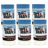 Easy Mask Tape & Drape 2' x 72' Pre-taped Masking Film, 949460
