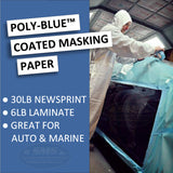 Blue Coated Masking Paper