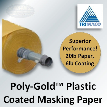Poly-Gold Plastic Coated Masking Paper