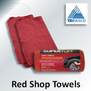 Red Shop Towels