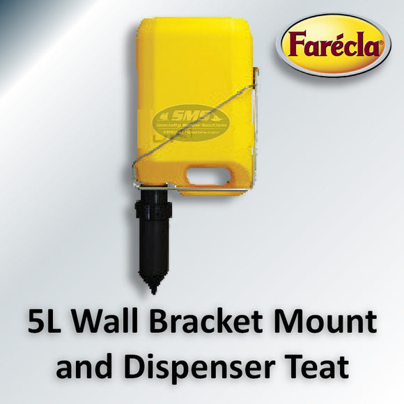 Farecla Wall Bracket & Dispenser Teat for 5 Liter Bottles