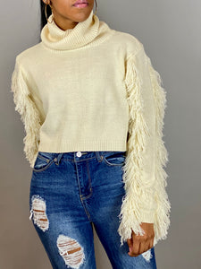 Cozy Crop Sweater - Ivory