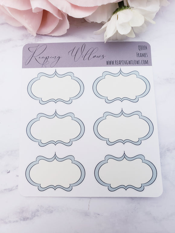 Quarter Sheet Planner Stickers - Frames
