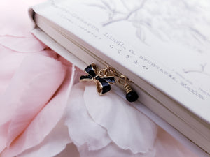 Charmed Paperclip - Black and Gold Bow
