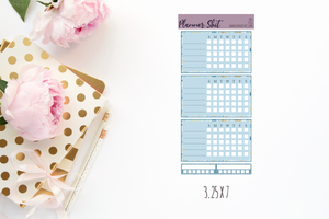 Functional Planner Stickers - Double Box Trackers - Blue
