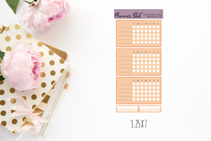 Functional Planner Stickers - Double Box Trackers - Orange