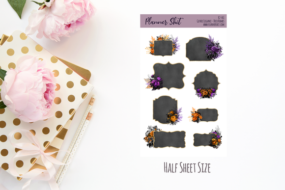 Half Sheet Planner Stickers - Deco Frames