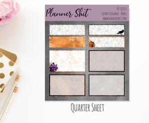 Quarter Sheet Planner Stickers - Gothic Elegance Boxes