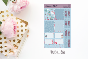 Half Sheet Planner Stickers - Winter Gnomes Weekly