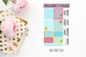 Half Sheet Planner Stickers - Christmas Dragons - Weekly