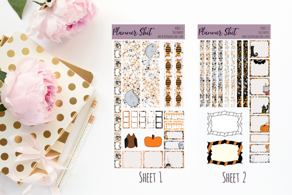 Hobo Weeks Sticker Kit - Halloween