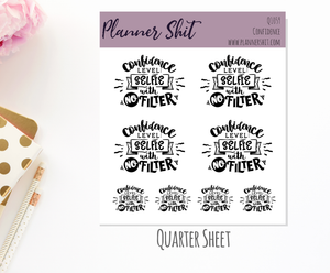 Quarter Sheet Planner Stickers - Confidence