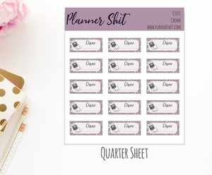 Quarter Sheet Planner Stickers - Chemo