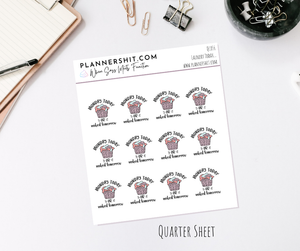 Quarter Sheet Planner Stickers - Laundry Today...
