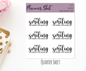 Quarter Sheet Planner Stickers - Smiling