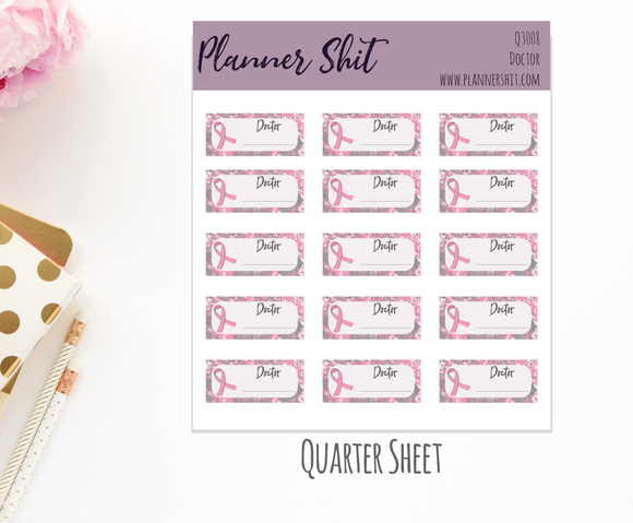 Quarter Sheet Planner Stickers - Doctor
