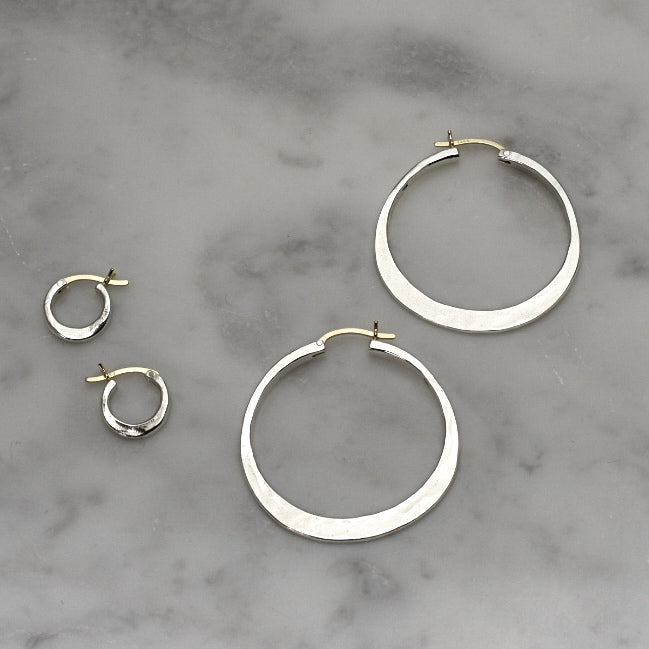 Classic Mini Sterling + 14k Gold Hoops