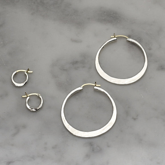 Classic Sterling + 14k Gold Hoops