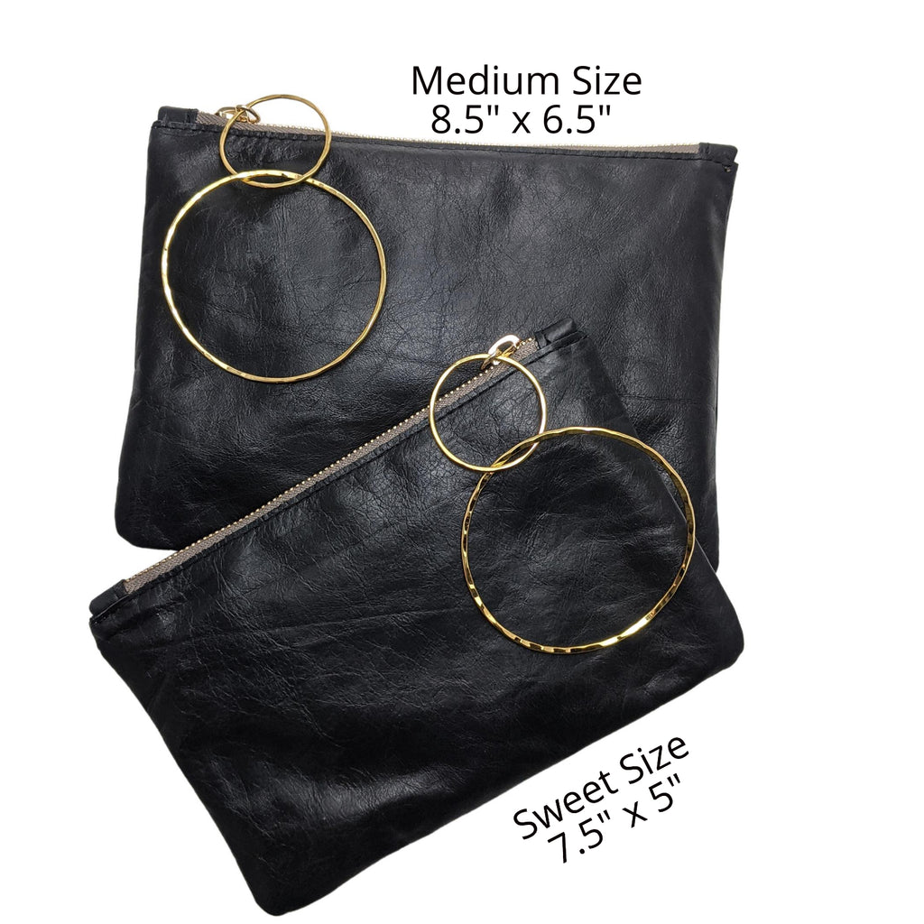 Sweet Size Bangle Bag in Black Leather