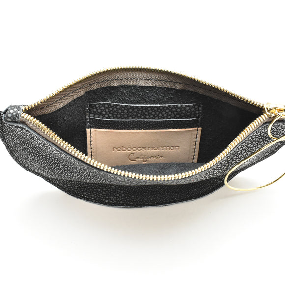 Luna Bangle Bag in Embossed Stingray
