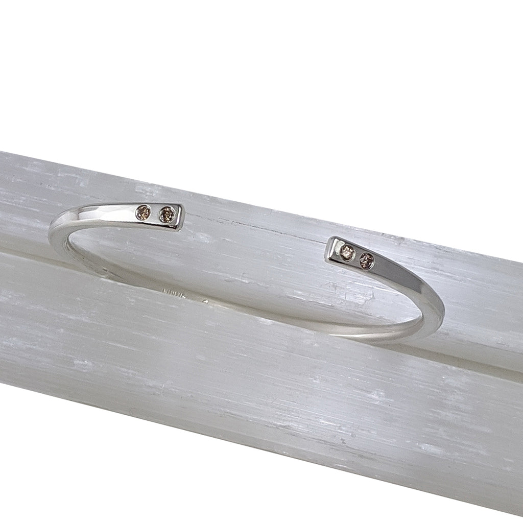 Sterling + Diamond Regalo Cuffs