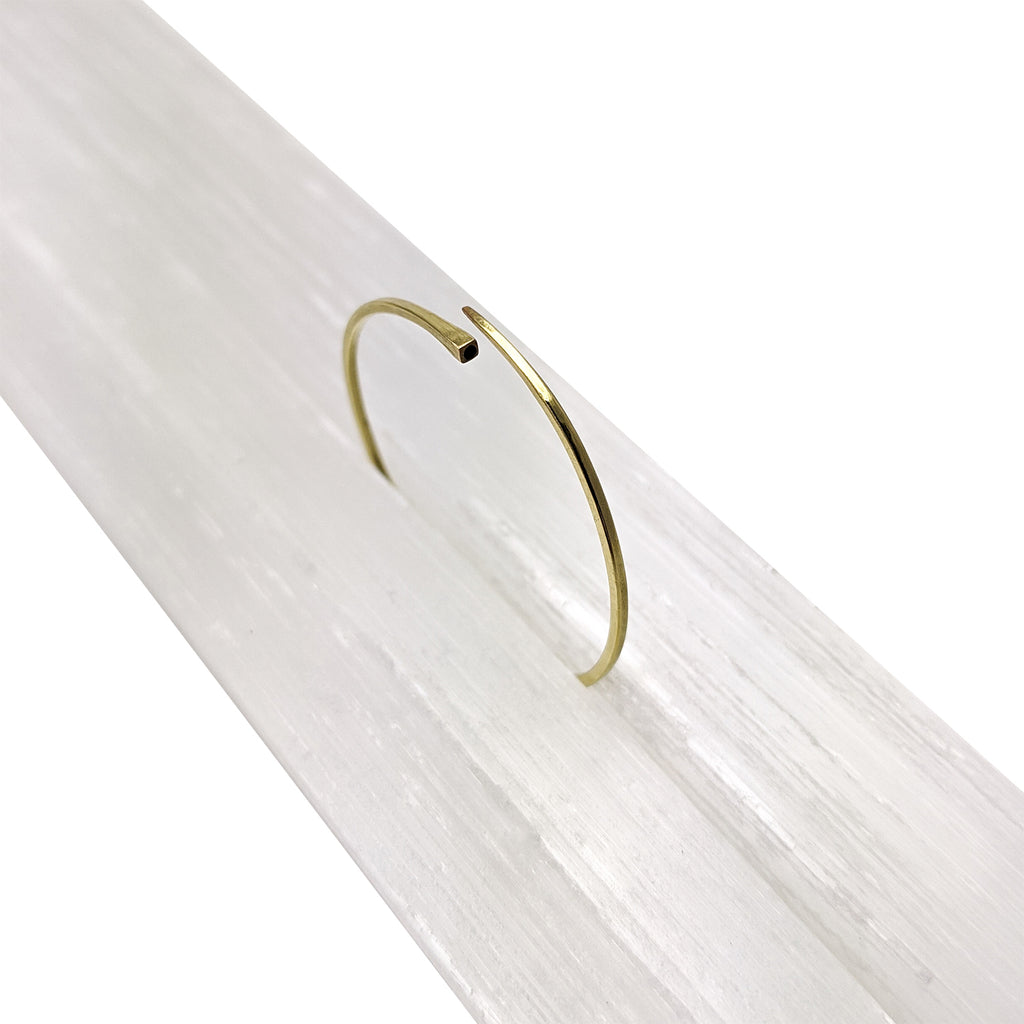 Tapered 14k Gold Hoops - Pairs