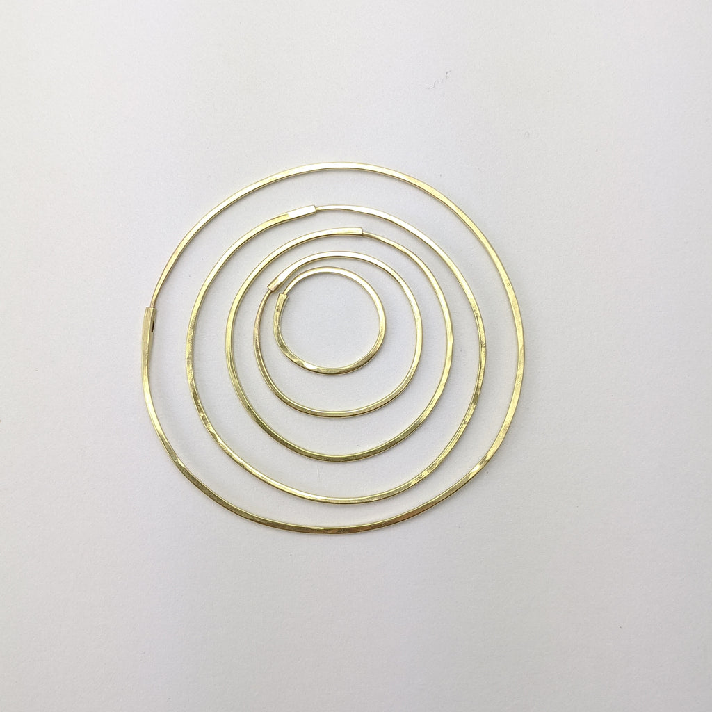 Tapered 14k Gold Hoops - Singles